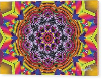 Rainbow Lightning Wood Print by Bobby Hammerstone