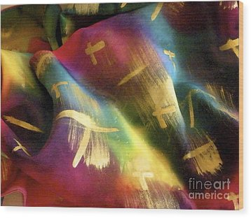Rainbow Lights Wood Print by Joanna White