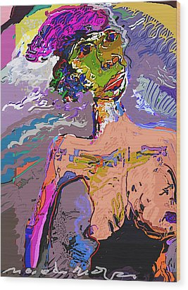 Rainbow Wood Print by Noredin Morgan
