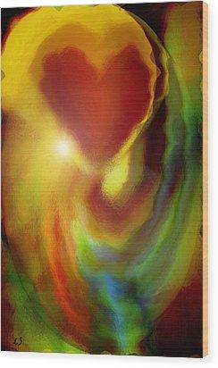 Rainbow Of Love Wood Print