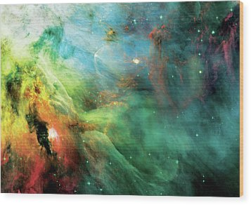 Rainbow Orion Nebula Wood Print
