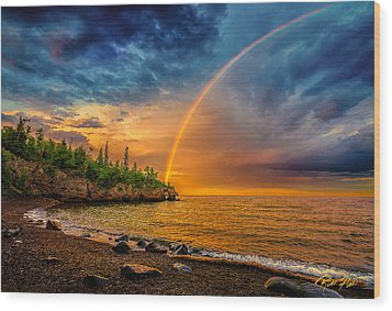 Rainbow Point Wood Print by Rikk Flohr