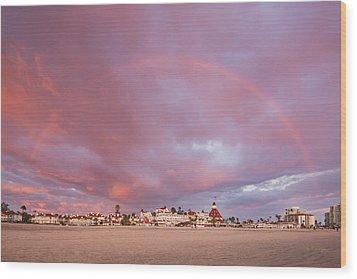 Rainbow Proposal Wood Print