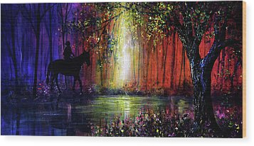 Rainbow Ride Wood Print by Ann Marie Bone