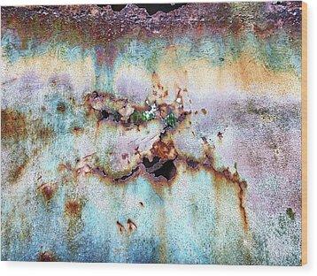 Rainbow Rust Wood Print by Karen Stahlros