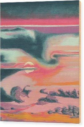 Rainbow Sky Wood Print by Harvey Rogosin