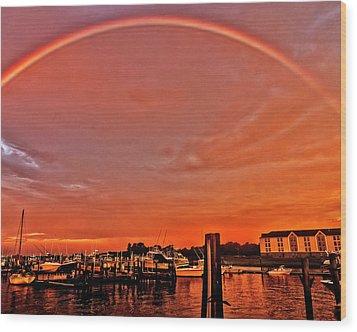 Rainbow Sunrise Wood Print