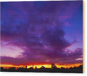 Rainbow Sunset Wood Print by Mark Blauhoefer