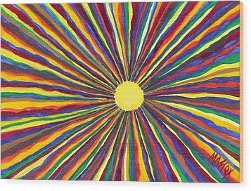 Rainbow Sunshine Wood Print