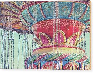 Wood Print featuring the photograph Rainbow Swings by Melanie Alexandra Price