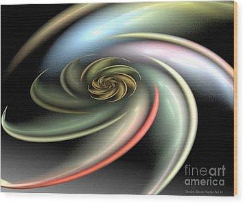 Rainbow Swirl Wood Print by Sandra Bauser Digital Art