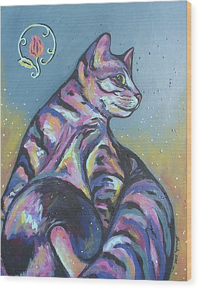 Rainbow Tabby Wood Print