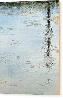 Raindrop Abstract Wood Print