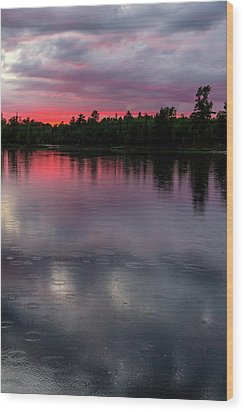 Wood Print featuring the photograph Raindrops At Sunset by Mary Amerman