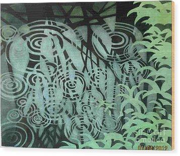 Raindrops-on-raindrops Wood Print