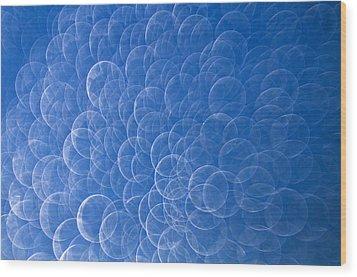 Raindrops On Window Wood Print by Silke Magino