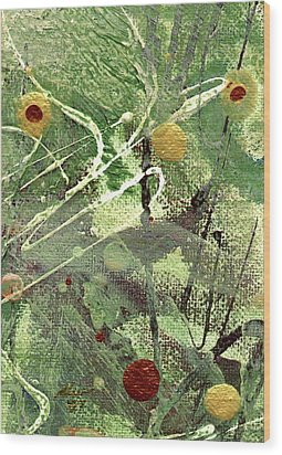 Wood Print featuring the mixed media Rainforest by Angela L Walker