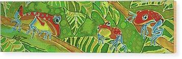Rainforest Buds Wood Print by Kelly     ZumBerge