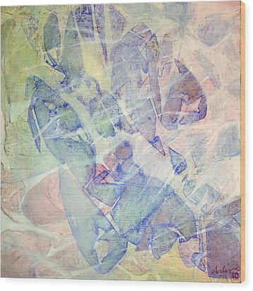 Rainforest Morning Mist Wood Print by Arlissa Vaughn