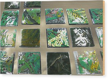 Rainforest Tile Prints Wood Print by Sarah King