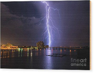 Raining Bolts Wood Print