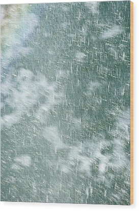 Raining In Abstract Wood Print