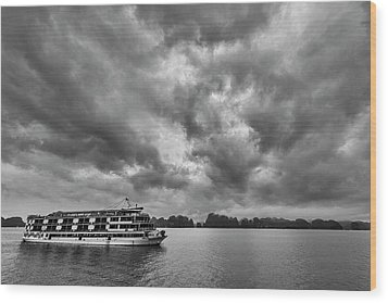 Wood Print featuring the photograph Rainy Day Cruise by Hitendra SINKAR