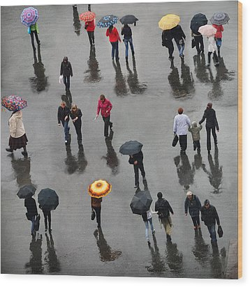 Wood Print featuring the photograph Rainy Day by Vladimir Kholostykh