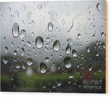 Rainy Day Wood Print by Yali Shi