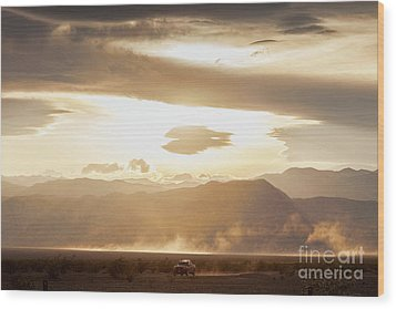 Wood Print featuring the photograph Raising Dust In Death Valley by Colin and Linda McKie