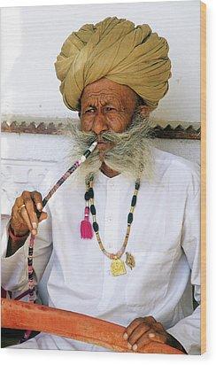 Rajasthani Elder Wood Print by Michele Burgess