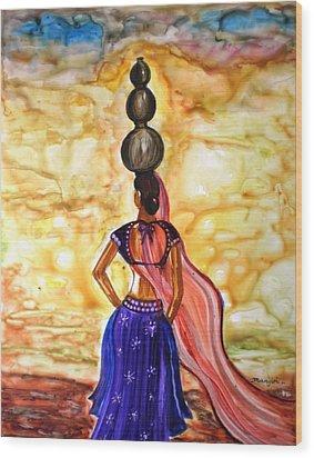 Rajasthani Lady-allure Wood Print