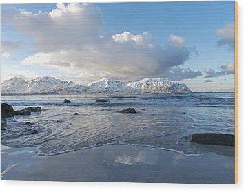 Ramberg Beach, Lofoten Nordland Wood Print