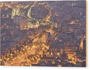 Wood Print featuring the photograph Rambla Del Carmel Barcelona Spain by Marek Stepan