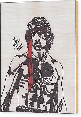 Rambo First Blood Part II Wood Print by Jeremiah Colley