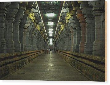 Rameshwaram Temple India Wood Print