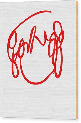 Ramona Flowers Red - Scott Pilgrim Vs The World Wood Print by Paul Telling