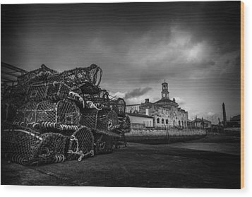 Ramsgate Lobster Pots  Wood Print