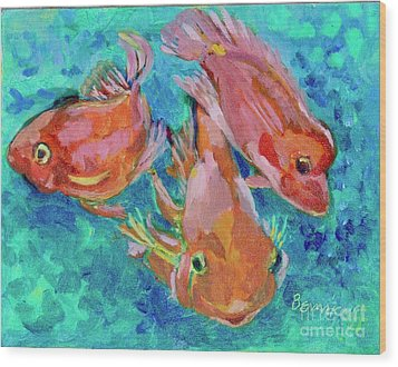 Ramshead Goldfish Wood Print by Jan Bennicoff