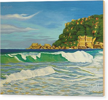 Ramy Base Beach Wood Print by Milagros Palmieri