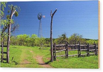 Ranch At Click Gap II Wood Print by Greg Reed
