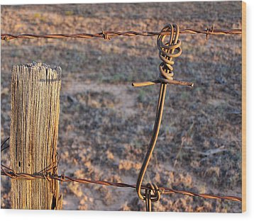 The Old Ranch Fence Wood Print