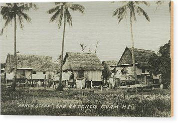 Ranch Scene San Antonio Guam Wood Print by eGuam Photo