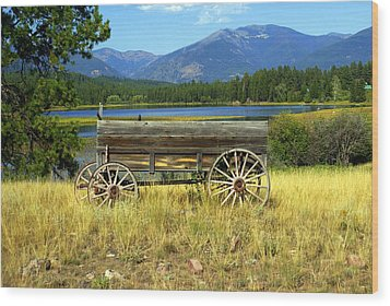 Ranch Wagon 3 Wood Print by Marty Koch