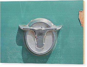 Ranchero Emblem Wood Print by Lynda Dawson-Youngclaus