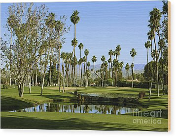 Rancho Mirage Golf Course Wood Print by Nina Prommer