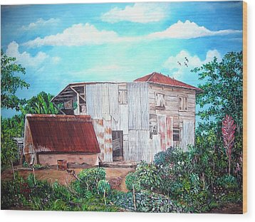 Rancho Viejo Wood Print by Jose Lugo