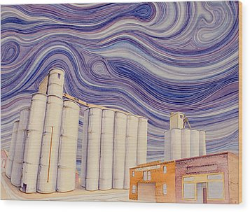 Wood Print featuring the painting Randall by Scott Kirby