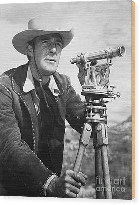 Randolph Scott (1898-1987) Wood Print by Granger