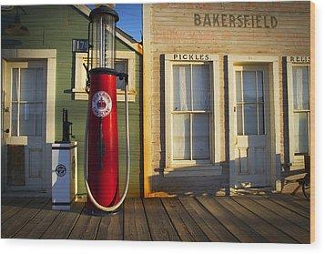 Randsburg Pump Wood Print by Mike Hill